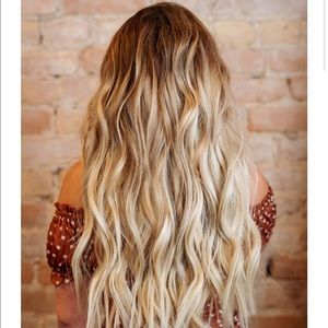 "Ombré Clip Hair Extensions 18"" with 2 inch root"